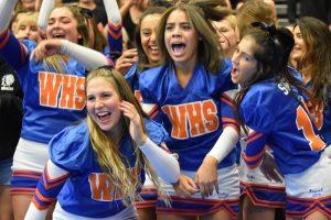 cheer during senior rap battle