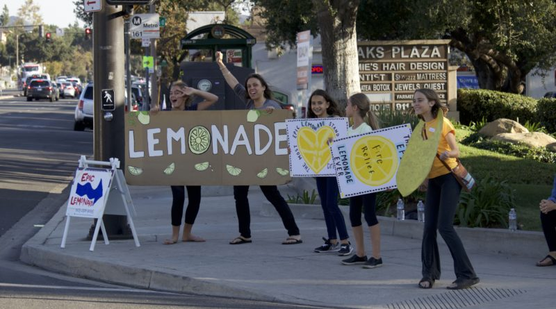 """Community raises money for shooting, wildfire victims by selling """"Epic Lemonade"""""""