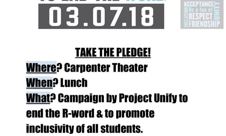 WHS Project Unify brings back End the R Word campaign